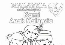 The Malaysia National Day Sehati Sejiwa Colouring Page