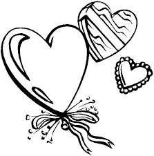 Heart Shaped Ballons For Valentines Day Party Coloring Page