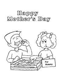 Boy And Girl Eating Mothers Day Chocolates