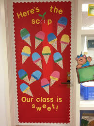 SUMMER SPRING Preschool Door Bulletin Board