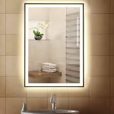 kleankin badezimmerspiegel led spiegel nebelfreier antibeschlag wandspiegel aluminium badezimmerspiegel mit led licht beleuchtung touch schalter 3