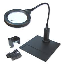 Lighted Magnifier Desk Lamp by Clamp Magnifiers Magnifying Aids Magnifiers Magnifying Glasses