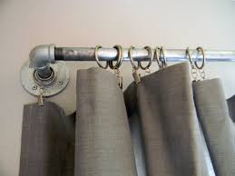 s DIY West Elm Curtain Rod & Striped Curtains contemporary