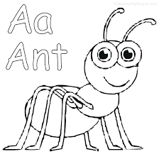 Ant Coloring Page Pages Free Man