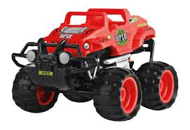 100 Ups Truck Toy Rific RC Smash Monstertruck Viper Red 23 Cm Internets