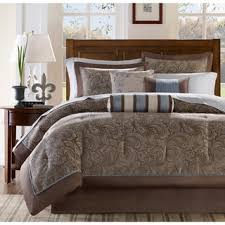 brown and blue bedding sets beautiful on bed sets with bed