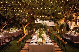 Outdoor Lighting For Wedding Reception Romantic Enchanted By Ideas