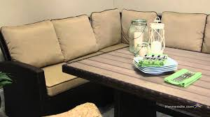 patio sofa dining set belham living monticello all weather wicker sofa sectional patio