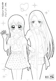 Girl Anime Coloring Pages Cute Page