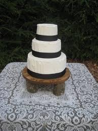 Rustic Cake Stand Wedding Cupcake Wood Log Slice Round Personalized