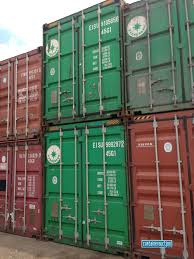 100 Cargo Container Prices Evergreen Triton And K Line Shipping Containers At The Depot In