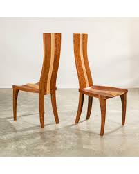 Wood Dining Chair Scandinavian High Back In Walnut Cherry Or Mahogany For Your