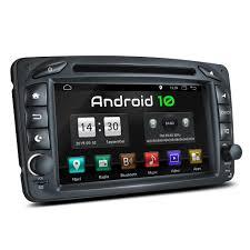 xomax xm 07za 2din autoradio mit android 10 navi 7 zoll touchscreen monitor bluetooth dvd cd sd und usb passend für mercedes