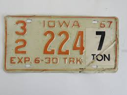 1967+Iowa+Truck+License+Plate $7.99 Free Shipping | License Plate ... Suv Pickup Truck With Yellow Ribbon Bumper Sticker And Vermont Stock 1949 Colorado License Plate Number Tag Pair Plates Truck Study Suggests Using Two Saves Rources For States Ets2 Custom Name Youtube 144 Whosale Jon Boat Life New Mexico Law On Front Bumper Personalized Page 3 Tacoma World Lpr Access Control Vintage Antique Classic Car Automobile California Vanity Plates Perpetually Peeved More Tahiti