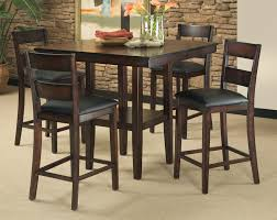 Dark Brown Stained Wooden Pub Table