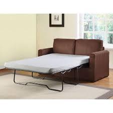 craigg sofa with twin sleeper chocolate walmart com