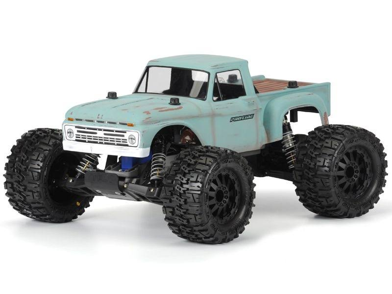 Pro Line Racing 1966 Ford F 100 Clear Body Stampede