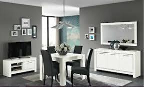 details zu 8 teiliges wohnzimmermöbel esszimmermöbel italienische möbel weiß hochglanz