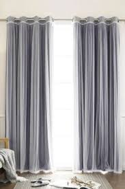 Searsca Sheer Curtains by Features Set Includes 2 Blackout Curtain Panels And 2 White