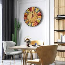 acryl stille wanduhr moderne design vintage rustikalen retro