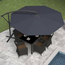 9 Ft Patio Umbrella Frame by Corliving 10 Ft Steel Offset Umbrella Hayneedle