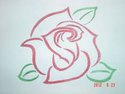 Tribal Rose Tattoo Drawing