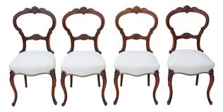 Antique Set Of 4 Victorian C1880 Walnut Balloon Back Dining ... Antique Victorian Ref No 03505 Regent Antiques Set Of Ten Mahogany Balloon Back Ding Chairs 6 Walnut Eight 62 Style Ebay Finely Carved Quality Four C1845 Reproduction Balloon Back Ding Chairs Fiddleback Style Table And In Traditional Living Living Room Upholstery 8 Upholstered Lloonback Antique French