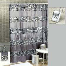 Grey And White Chevron Curtains Uk by 3 Black And White Horizontal Stripe Shower Curtain Yellow And