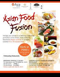 cuisine en promo food fusion society