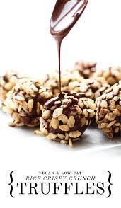 rice crispy crunch truffles recipe healthy vegan desserts