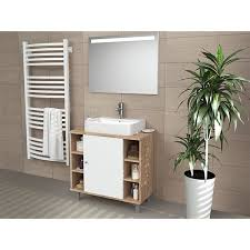 vicco waschbeckenunterschrank fynn eiche sonoma badmöbel badschrank unterschrank