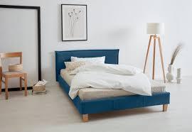 polsterbett peetu blau material massivholz holz spanplatte buche otto products