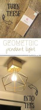 Inexpensive DIY Brass Geometric Globe Pendant Light