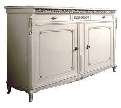 sideboard blattsilber mit schnitzarbeit möbel in lackierter farbe mit silberen details sideboard für esszimmer wohnzimmer anrichte mit