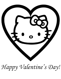 Hello Kitty Coloring Pages Valentines Day