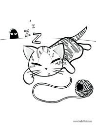 Warrior Cat Coloring Pages Mates Sleeping Page Source Colour Games Nyan Full Size