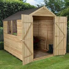 8x6 Wood Storage Shed by 8x6 Apex Overlap Wooden Shed Departments Diy At B U0026q
