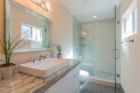 contemporary 3 4 bathroom with large ceramic tile by tony polk
