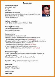 Resume Awesome Collection Of Good Example In Malaysia Best Sample Doc