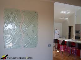 Cool Glass Wall Art Panels Together With Internal Wathaurong Decorative Fused Illuminated Stained