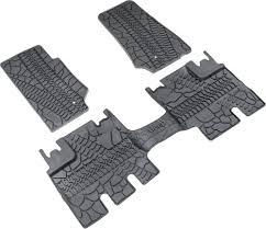 Jeep Jk Floor Mats by Mopar 82210166ac Floor Slush Mats With Tire Tread Pattern For 07
