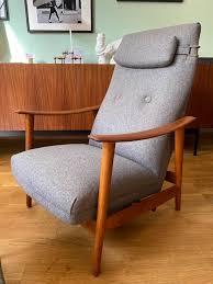 hochlehner sessel highback armchair teak arnt lande für stokke mobler patinamöbel vintage living