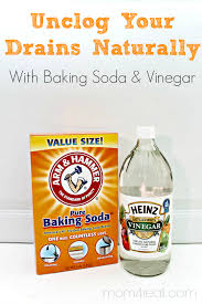 unclog your drains with baking soda and vinegar natural cleaning