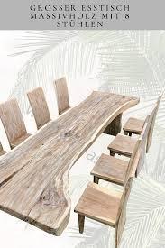 esszimmermöbel repräsentativer esstisch mit 8 stühlen
