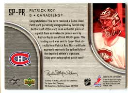 The Upper Deck Company Llc Linkedin by Lot Detail 2005 06 Upper Deck The Cup Patrick Roy Signature