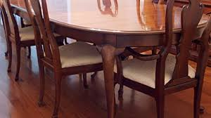 Queen Anne Dining Room Set Thomasville Table And Six Chairs Ebth Brilliant
