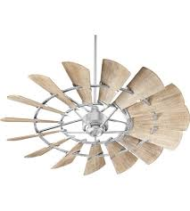 60 Inch Ceiling Fans by Quorum 96015 9 Windmill 60 Inch Galvanized With Weathered Oak