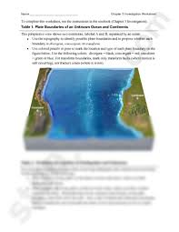 Sea Floor Spreading Worksheet Pdf by 03 10 Plate Invest Worksheet Pdf Geology 101 With Reynolds At