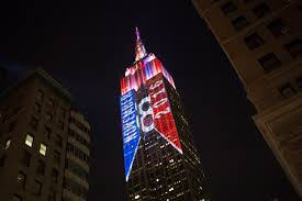 Election CNN Lights up the Empire State Building
