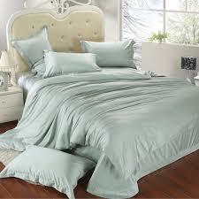 Luxury King Size Bedding Set Queen Light Mint Green Duvet Cover